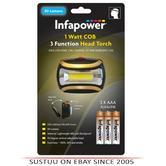 Infapower F045 1Watt COB Torch|90°Adjustable Head|Shockproof|COB LED|Waterproof|