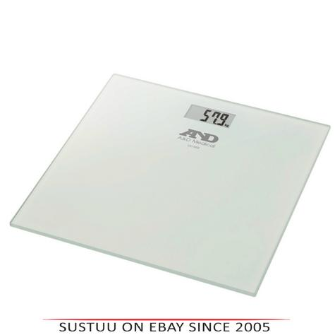 A&D Medical UC502 Glass Topped Digital Bathroom Scale|Auto-Sense|180kg Capacity Thumbnail 1