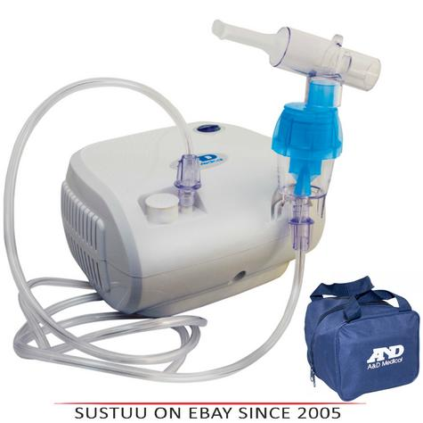 UN014 A&D Medical Compact Lightweight Compressor Nebuliser With Carry Bag Thumbnail 1