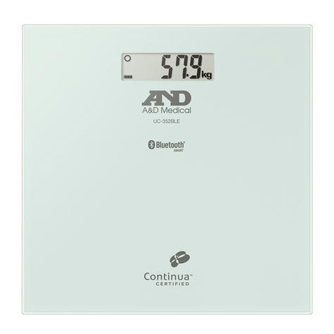 A&D Medical UC352BLE 200 KG Precision Body Weight Scale-Bluetooth Connectivity Thumbnail 1