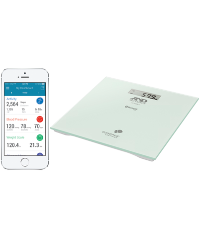 A&D Medical UC352BLE 200 KG Precision Body Weight Scale-Bluetooth Connectivity Thumbnail 3