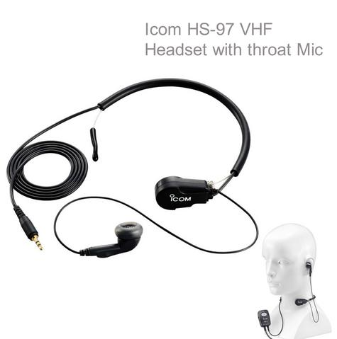 Icom HS-97 VHF Headset with Throat Mic|Use with OPC-1392|for IC M71 M73 GM1600 Thumbnail 1