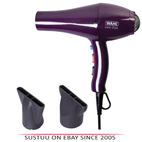 Wahl ZX908 Pro Ionic Style Hair Dryer|Lightweight|Tourmaline Grille|2000W|Purple Thumbnail 1