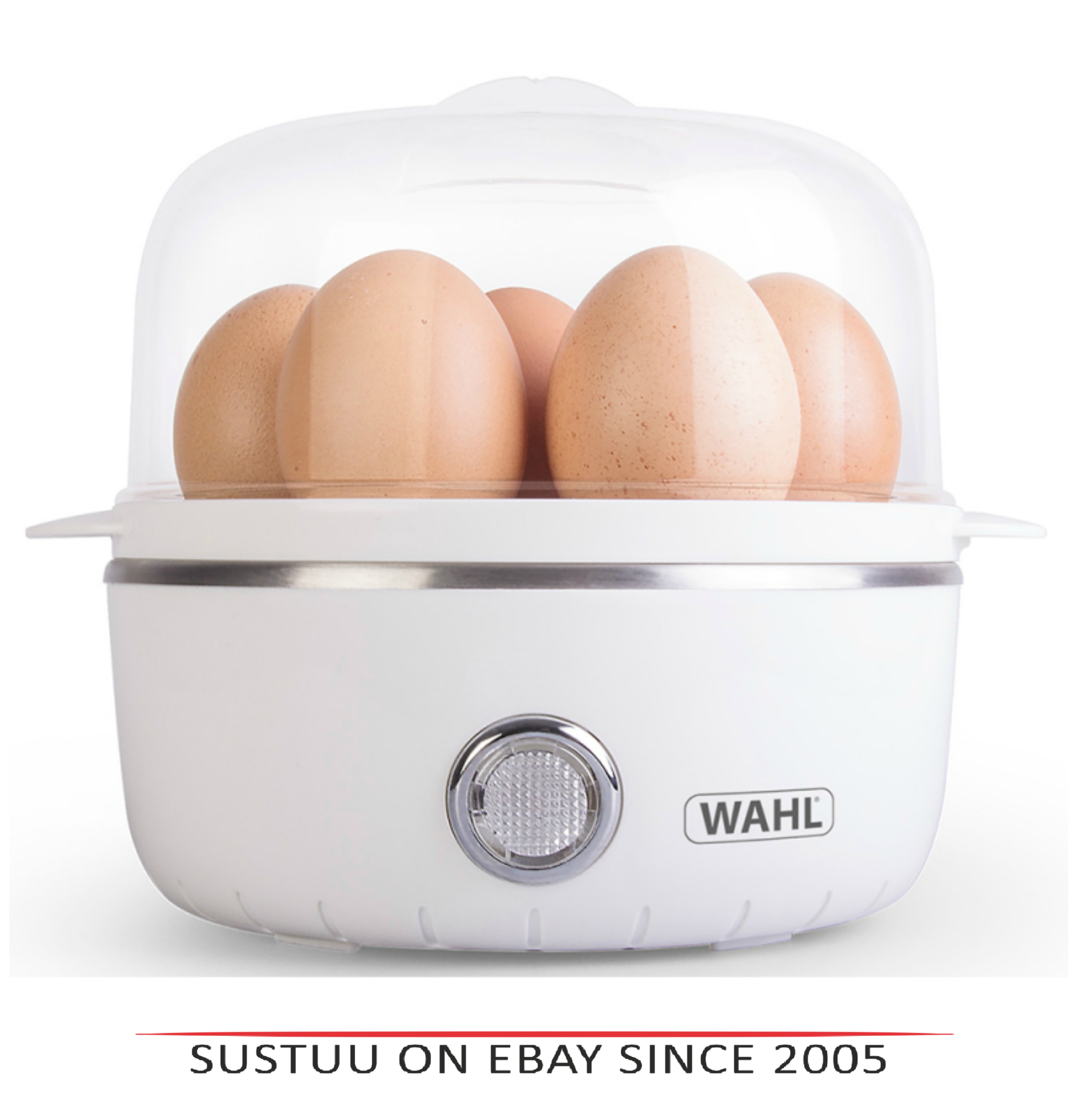 Wahl ZX945 Non Stick Electric Egg Boiler & Poacher|Hard to Soft Boiled|White|New