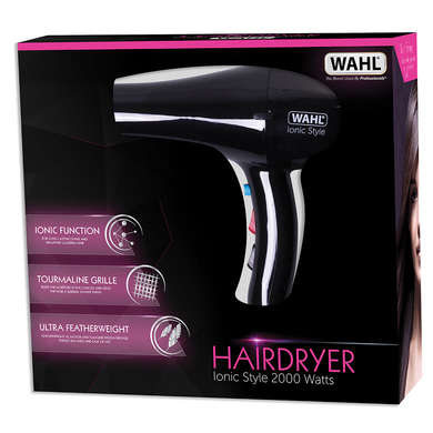 Wahl ZX906 Pro Ionic Style Hair Dryer Lightweight Tourmaline Grille 2000W Black  Thumbnail 3