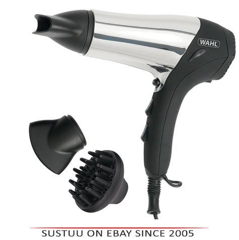Wahl ZX573 Chrome Ionic Hair Dryer With Soft Touch Grip & cool Shot Button-2000W Thumbnail 1