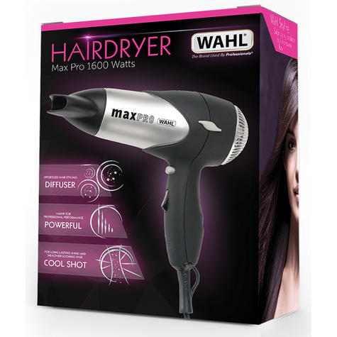 Wahl ZX508 MaxPro Lightweight Hair Dryer With Diffuser & Cool Shot Button-1600W Thumbnail 4