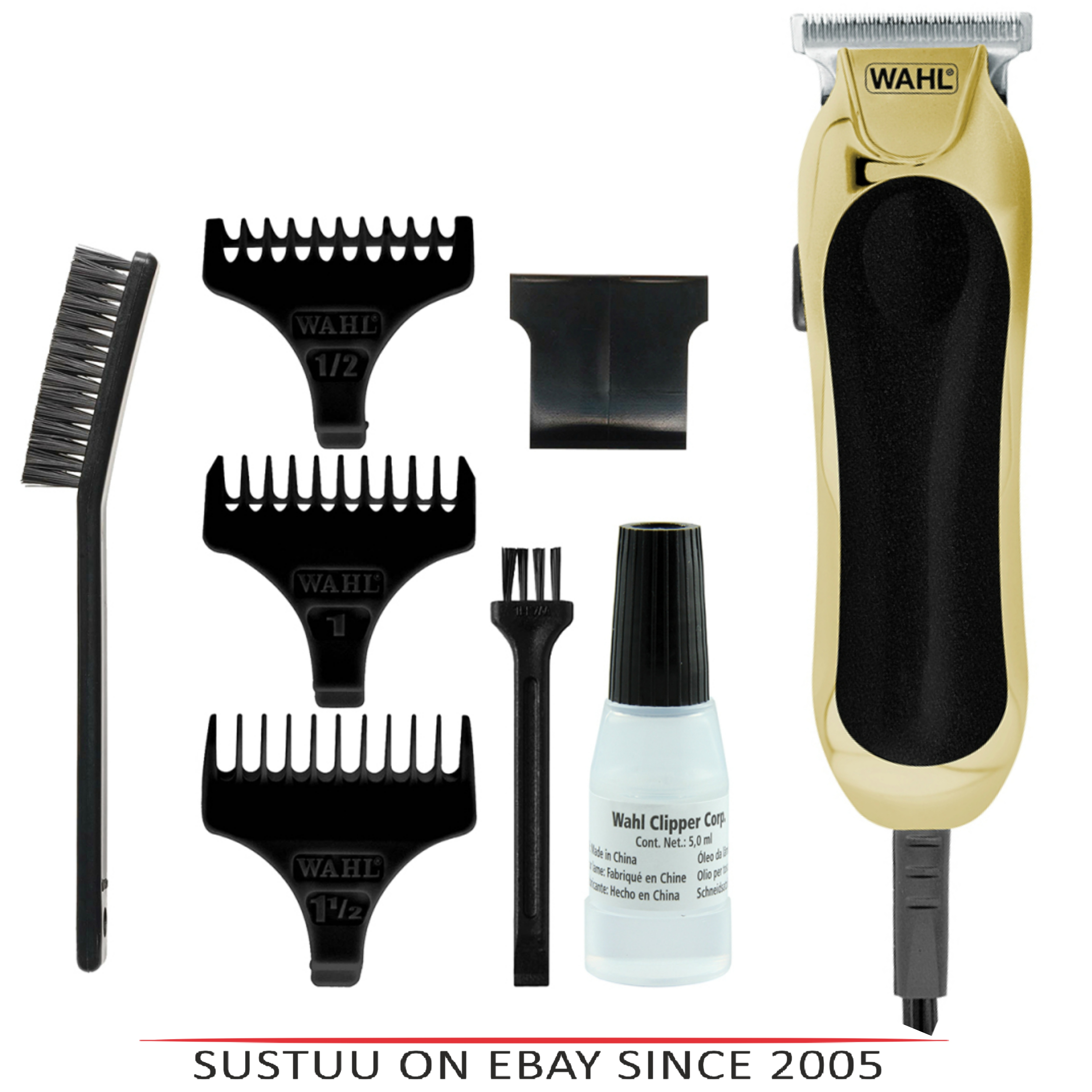 Wahl 9307-317 T-Blade Compact Mains Trimmer|Hair Clipper|Diamond Finished|Gold