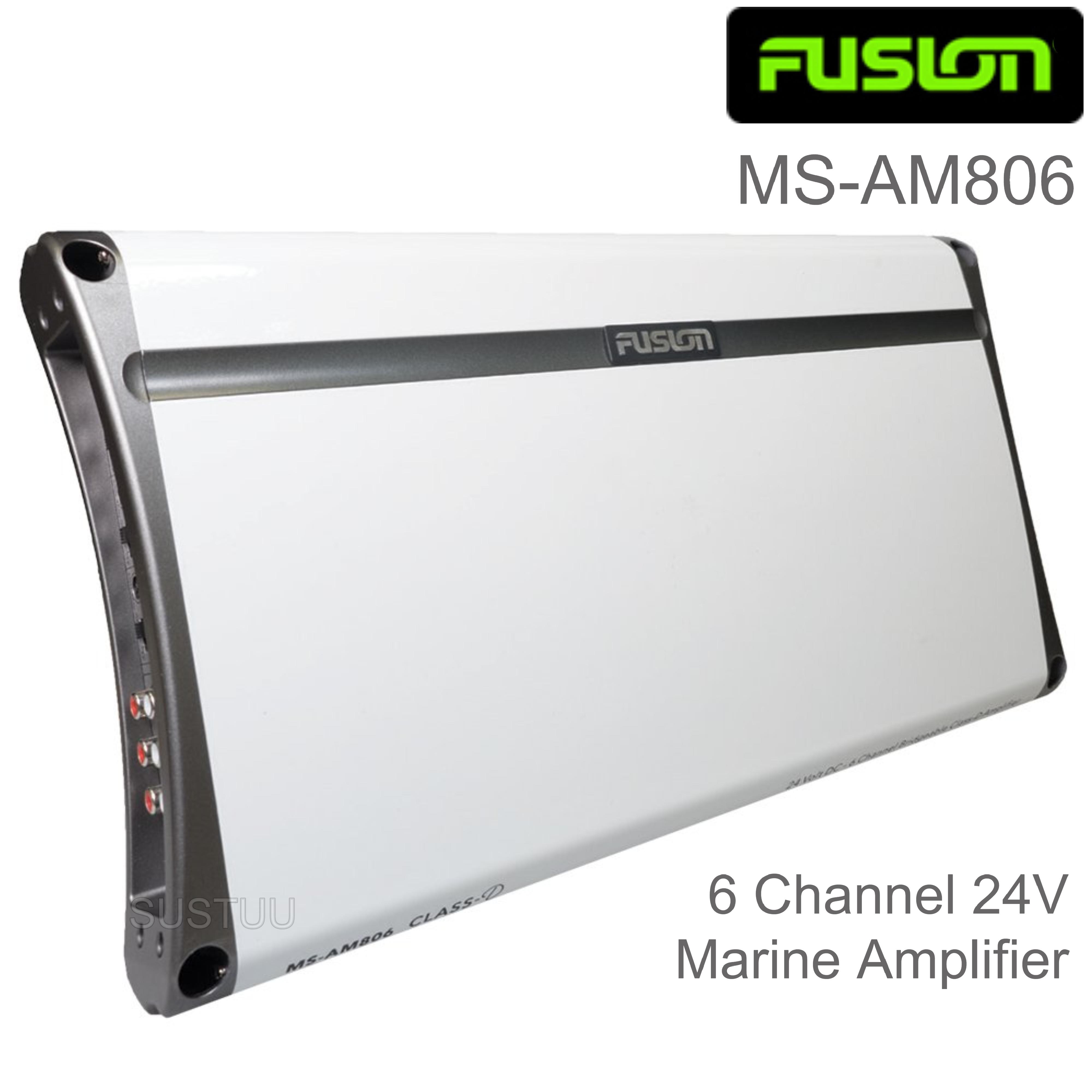 Fusion MS-AM806 6 Channel 24V Marine Amplifier | Class-D | 1600W Peak Power | RCA