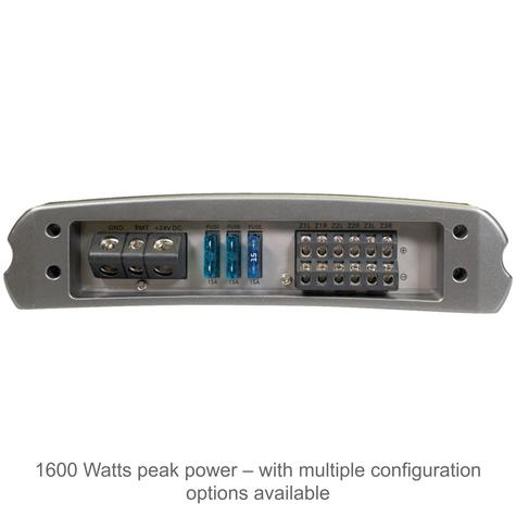 Fusion MS-AM806 6 Channel 24V Marine Amplifier | Class-D | 1600W Peak Power | RCA Thumbnail 2