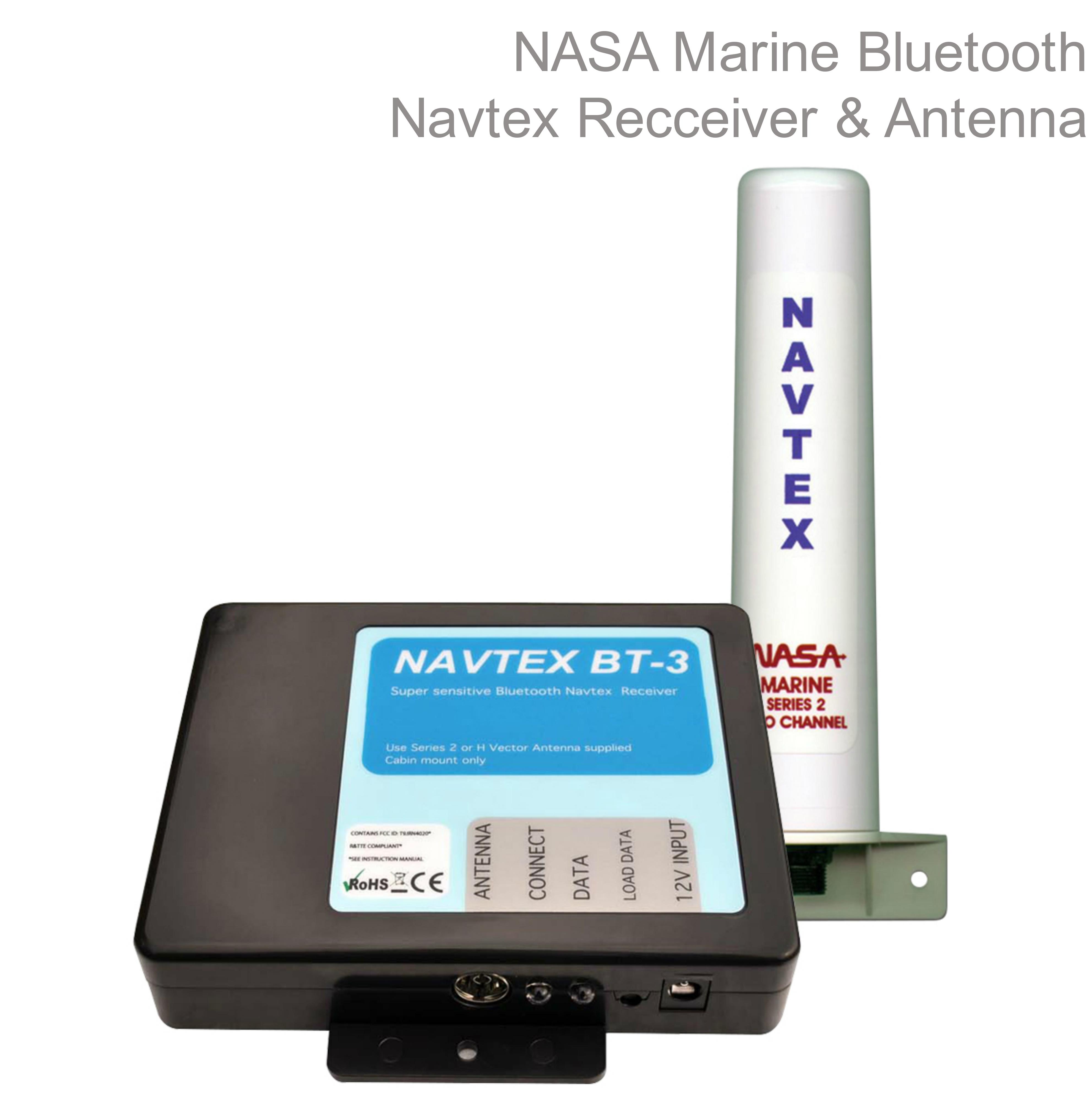 NASA Marine BT3 Bluetooth Navtex Recceive with Marine Series 2 Antenna In Marine