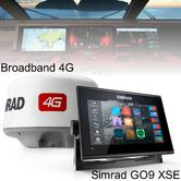 "Simrad GO9 xse Multi Touch Chartplotter-9"" & 4G Broadband Radar|GPS/Sonar/C-MAP"
