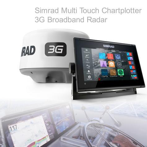 Simrad GO9 xse Multi Touch Chartplotter Marine 3G Brodband Radar & Totalscan Txd Thumbnail 1
