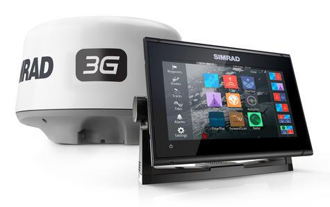 Simrad GO9 xse Multi Touch Chartplotter Marine 3G Brodband Radar & Totalscan Txd Thumbnail 2