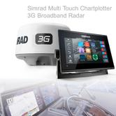 Simrad GO9 xse Multi Touch Chartplotter Marine 3G Brodband Radar & Totalscan Txd