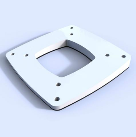 Scanstrut 4° Tough UV Stable Marine GradeBase Wedge for Direct Open Array Mount Thumbnail 2
