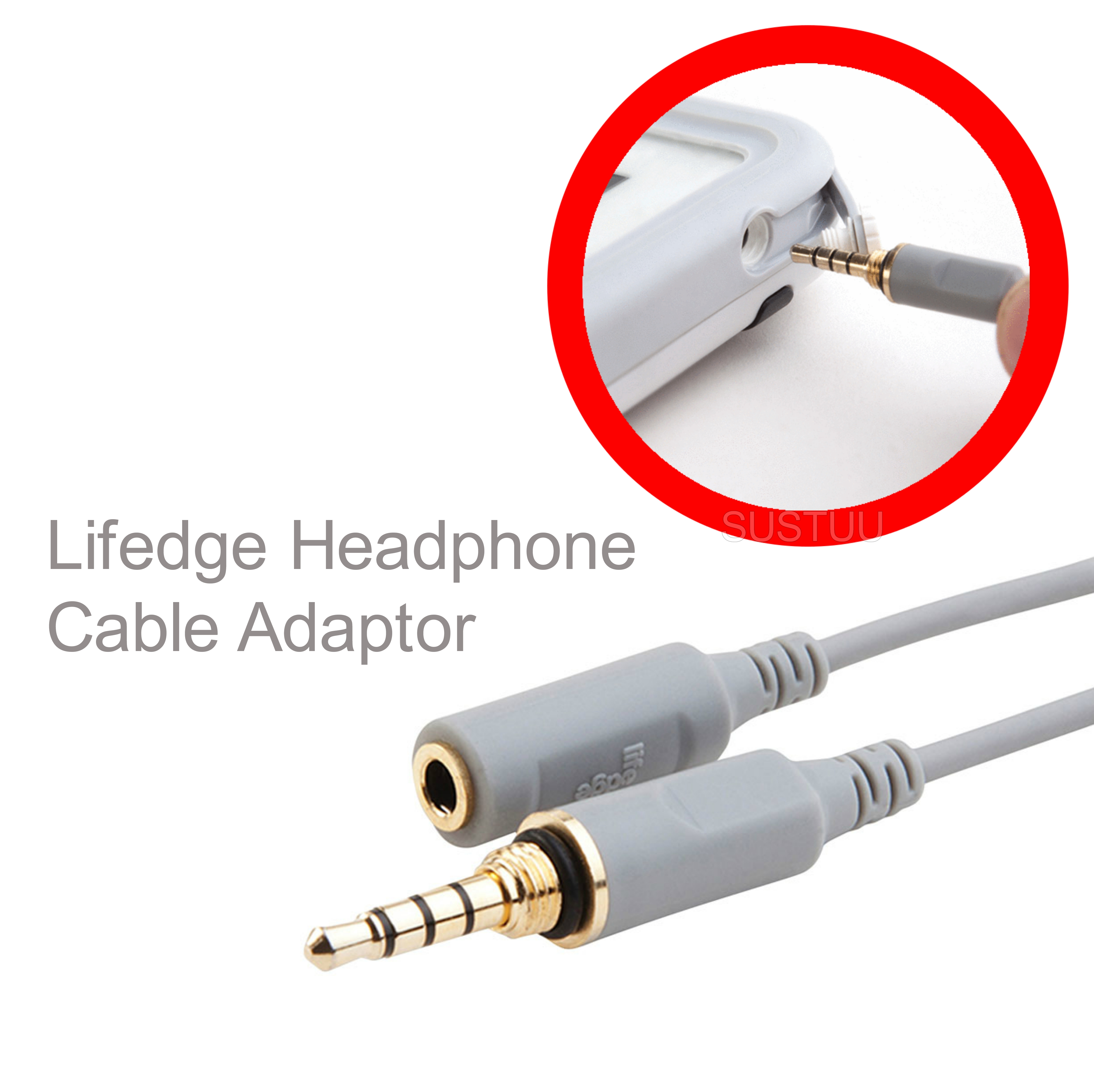 Lifedge Headphone Cable Adaptor Gold Plated Premium Quality For Apple & Other Standard Headphones