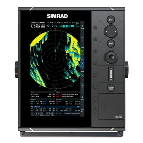 "Simrad-R2009 HD Radar Control Unit - 9"" & 4G Broadband Kit|GPS/AIS|Dual NMEA|RI-10 Interface|IPX7 Thumbnail 2"