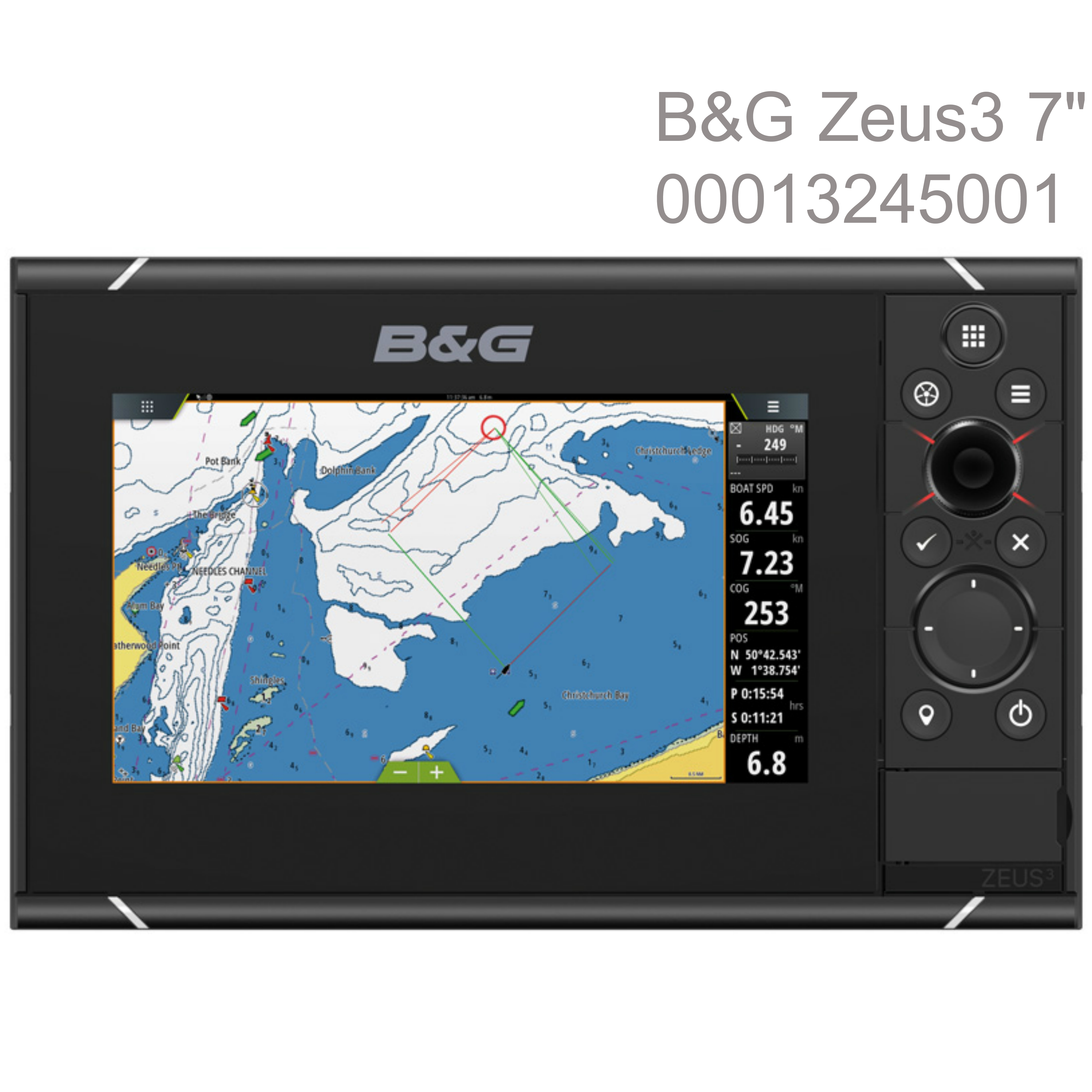 "B&G Zeus3 -7""|MFD Chartplotter|HD World Base Map|GPS|WiFi|For Cruisers & Racers"