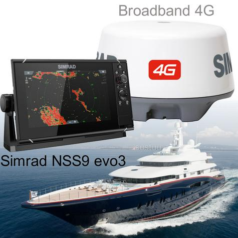 "Simrad NSS9 evo3 Combo HD MFD- 9"" & 4G Broadband Radar|GPS|CHIRP/Sonar/CMAP|Wi-Fi Thumbnail 1"