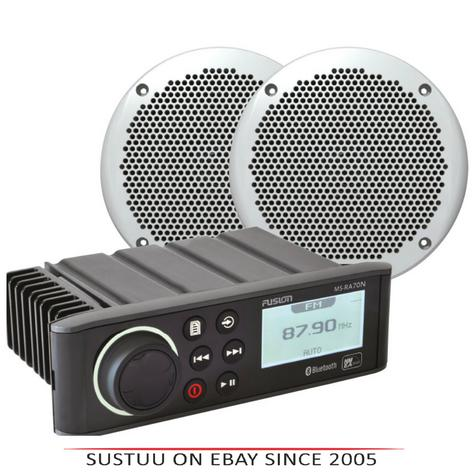 "Fusion RA70N with EL602 6""Marine Speakers