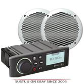 """Fusion RA70N with EL602 6""""Marine Speakers AM FM DAB USB iPhone Android Bluetooth"""