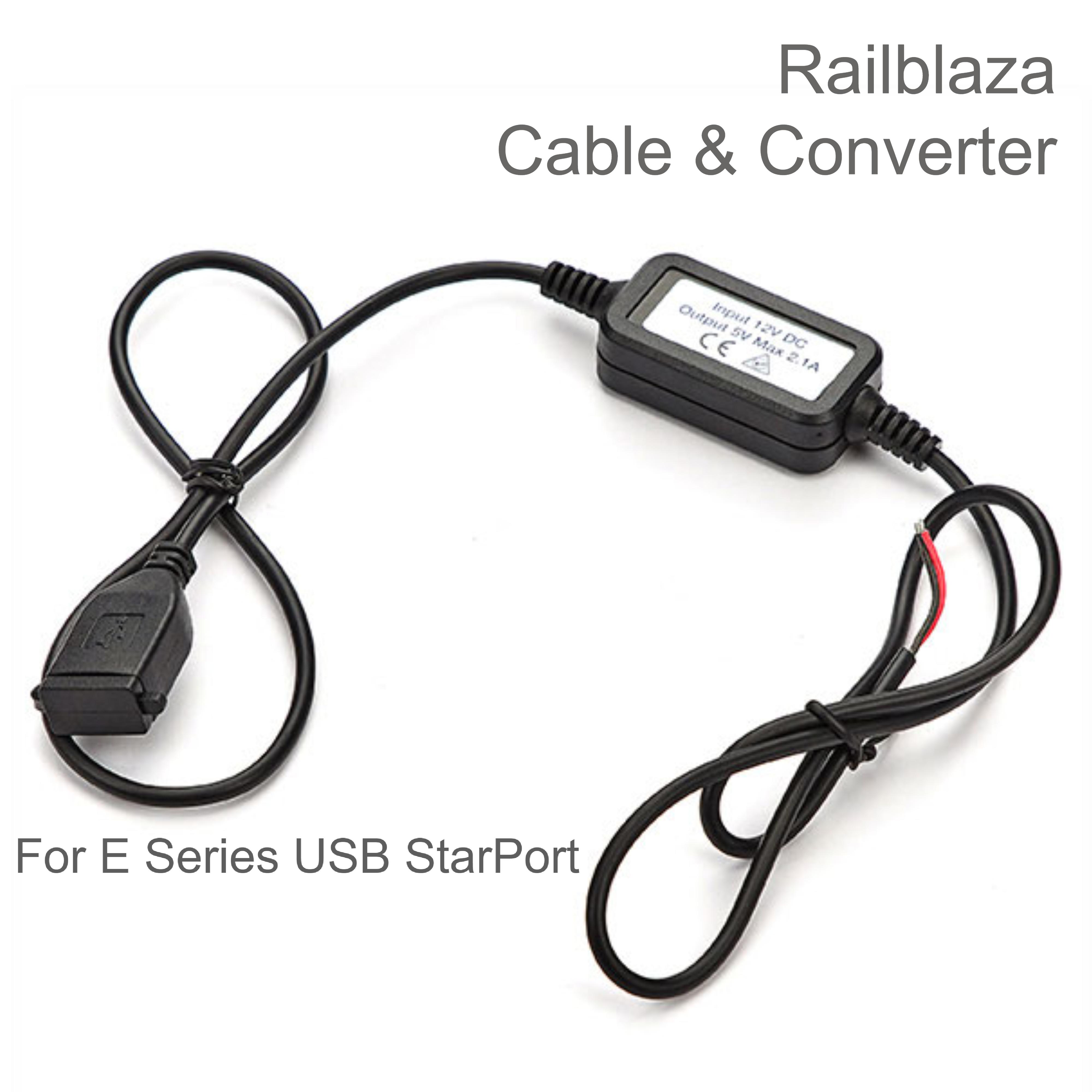 Railblaza Cable Set & Converter for E Series USB StarPort | For Boat & Kayak