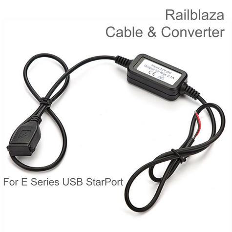 Railblaza Cable Set & Converter for E Series USB StarPort | For Boat & Kayak Thumbnail 1