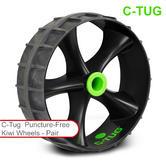 C-Tug Kiwi Puncture Free Wheels - Pair|Hi-Grip RubberTread|For Kayak Trolley