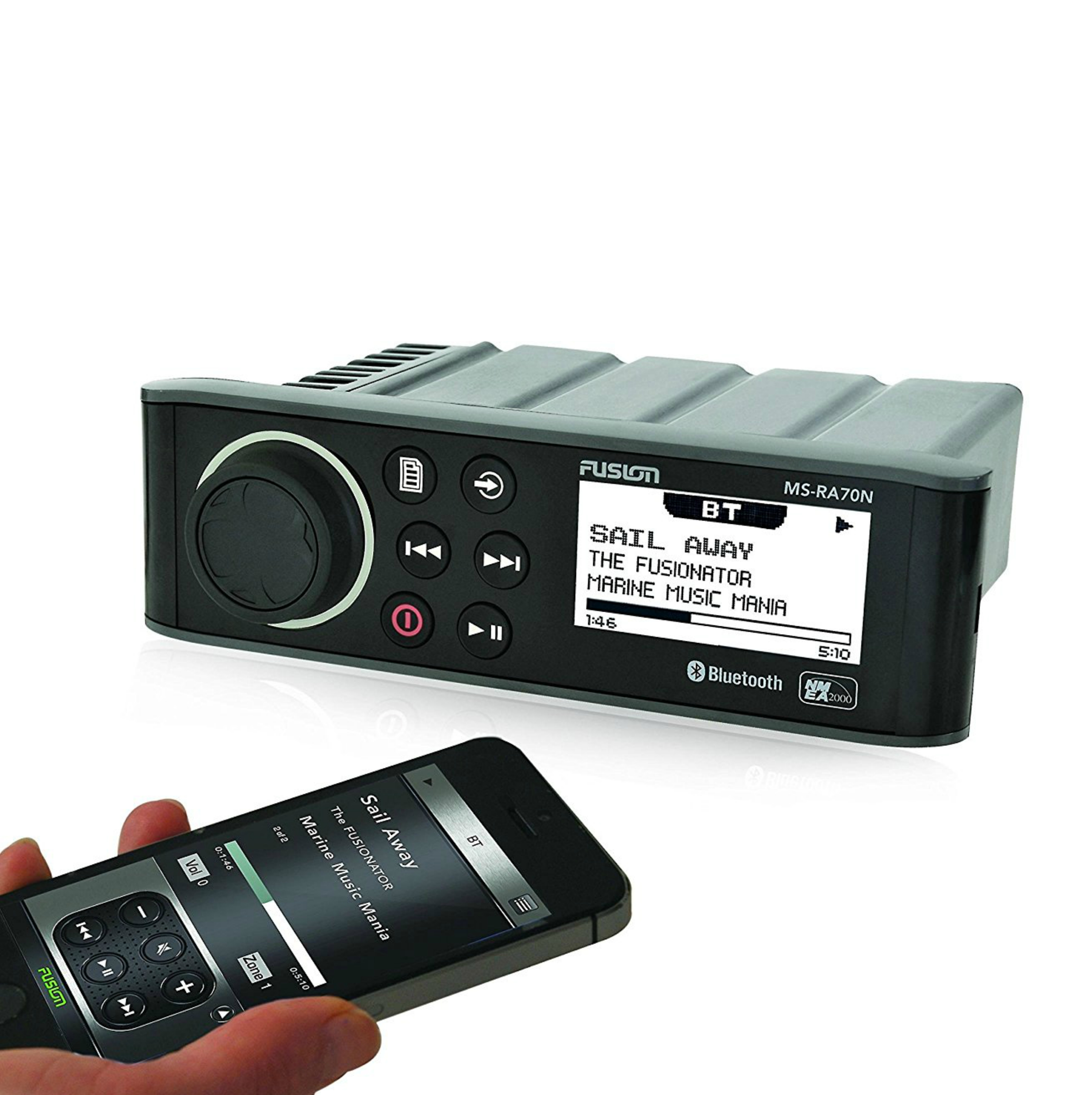 Fusion-RA70N|Radio Source Unit|Bluetooth Android iPhone iPod USB Connect|In Boat