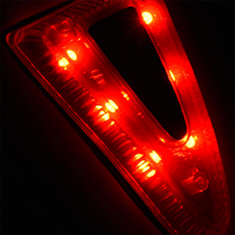 Oxford Metro-V Helmet Light Safty Flashing & Chasing Mode 6 LED Rear Features Thumbnail 3
