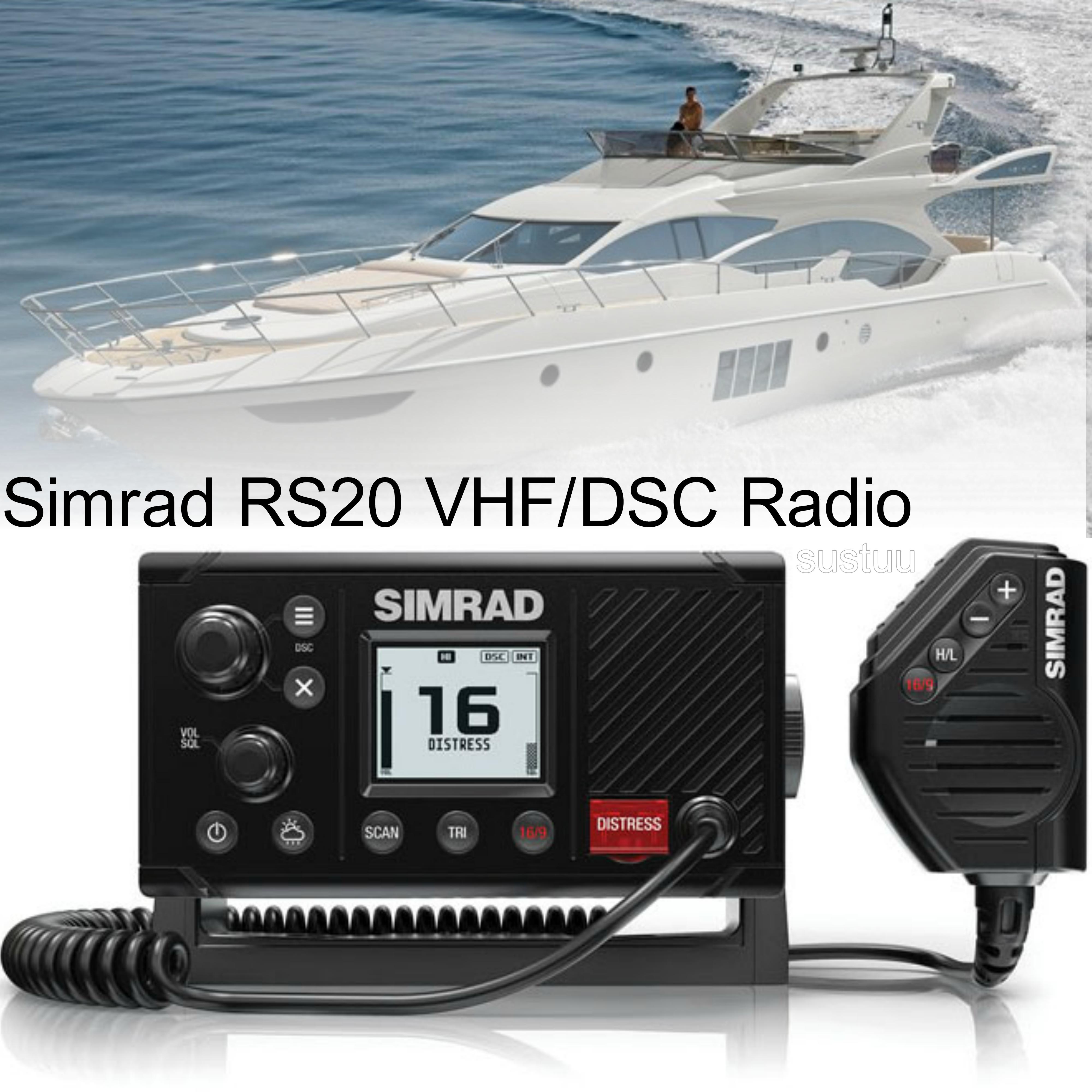 Simrad RS20 Marine VHF LCD Radio|Class D DSC|Rotary & Keypad Controls|NMEA 2000