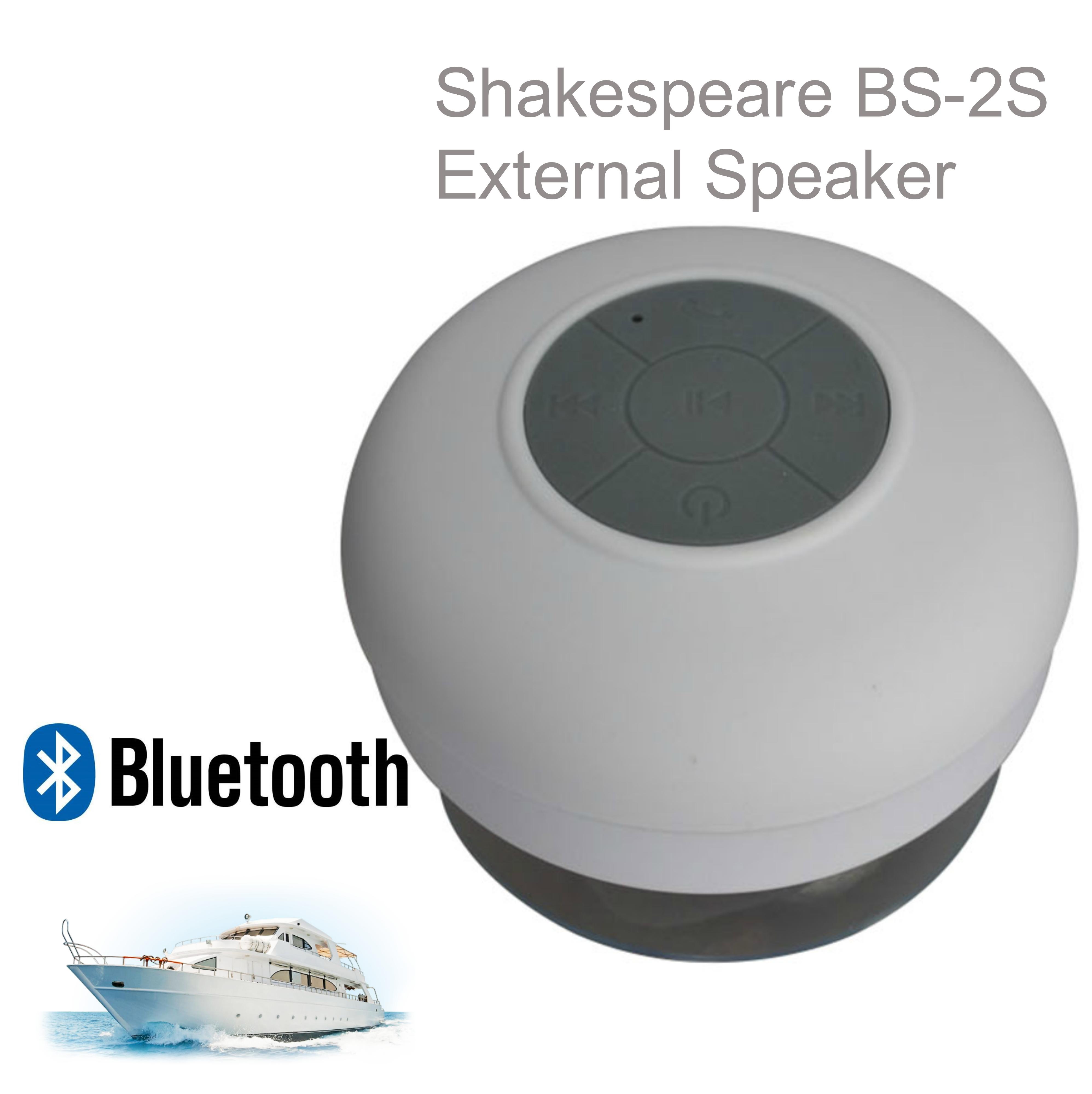 Shakespeare-BS-2S|5.71cm External Speaker|Waterproof|Bluetooth|Ideal For Marine