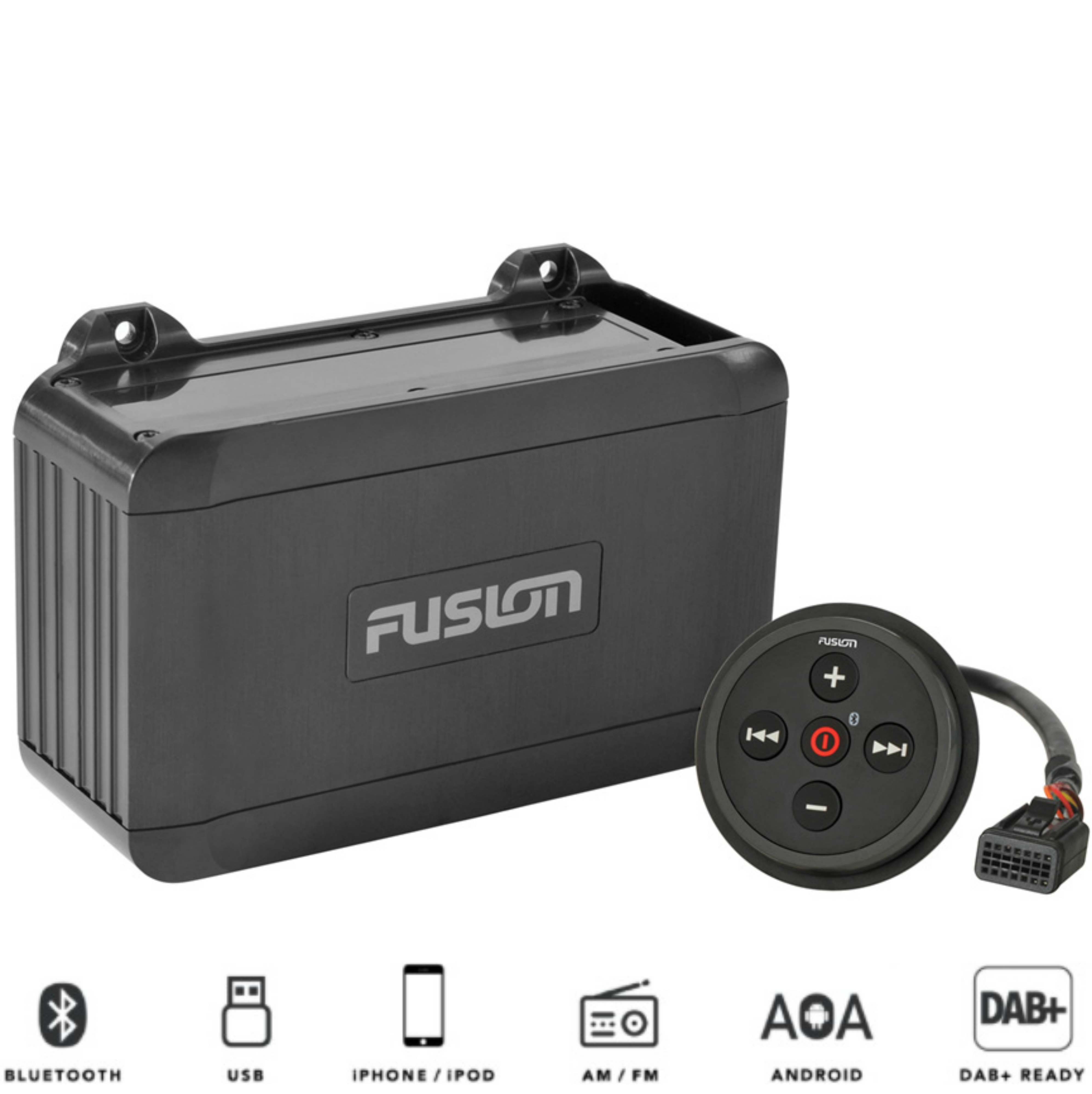 Fusion BB100 Marine Black Box|Bluetooth Wired|USB Android iPod Connect|In Marine