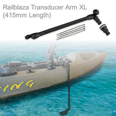 Railblaza Depth Sounder Transducer Arm XL(415mm Length) For Kayak Dinghy Canoe Thumbnail 1