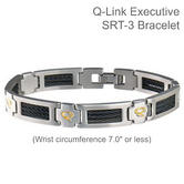 Q-Link Stainless Steel Brushed SRT-3 Executive Men Bracelet|Well Being|-Medium