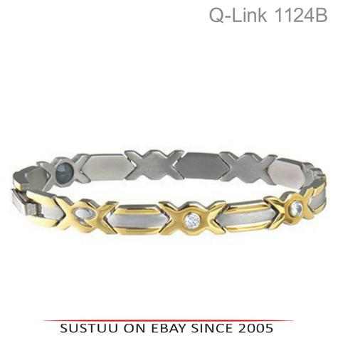 Q-Link Stainless Steel Brushed SRT-3 Executive Women Bracelet|Well Being|-Medium Thumbnail 1