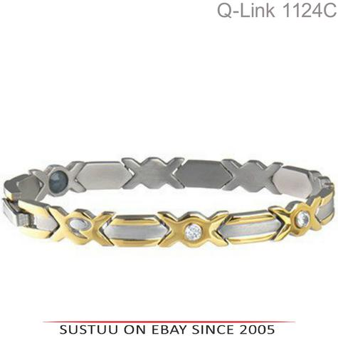 Q-Link Stainless Steel Brushed SRT-3 Executive Women Bracelet|Well Being|-Large Thumbnail 1