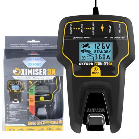 Oxford Oximiser 3X Battery Charger Multi Purpose Maintain For Vehicle - UK Model Thumbnail 1
