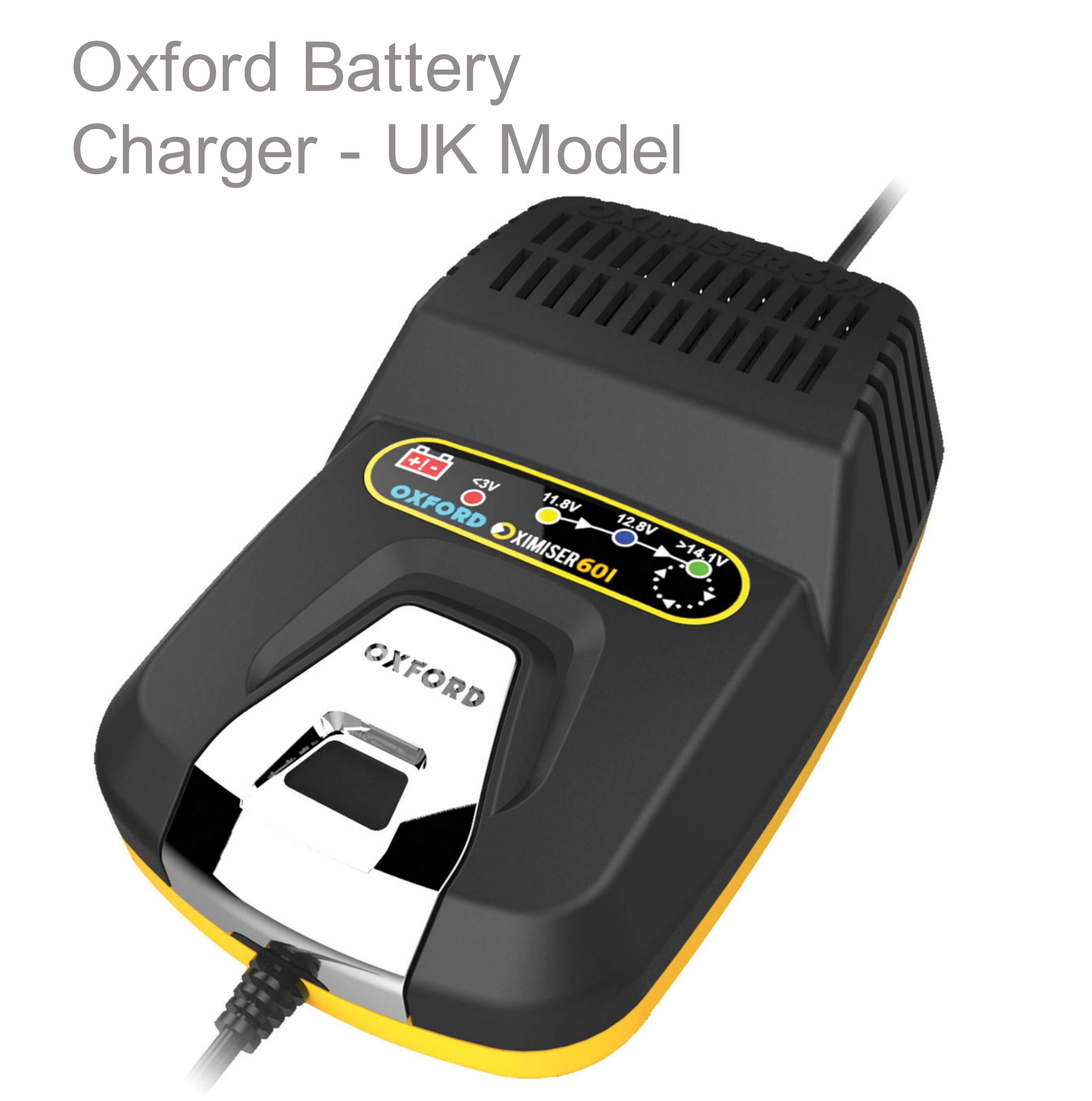 Oxford Oximiser 601 Battery Charger - UK Model - 12V|For MF Battery/ Gel/ AGM