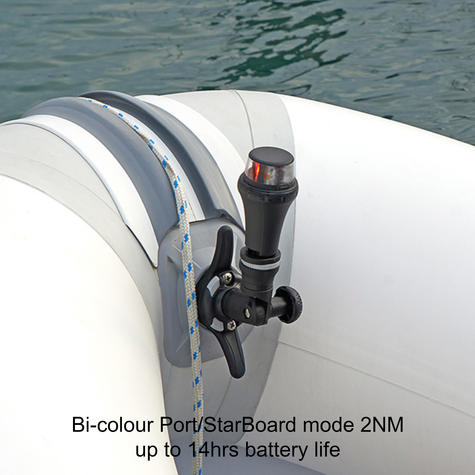 Railblaza-02500511|IPS Port|Starboard  Navigation LED Light|Bi-Colour|Floats Lens|For Kayak - Sailboat Thumbnail 6