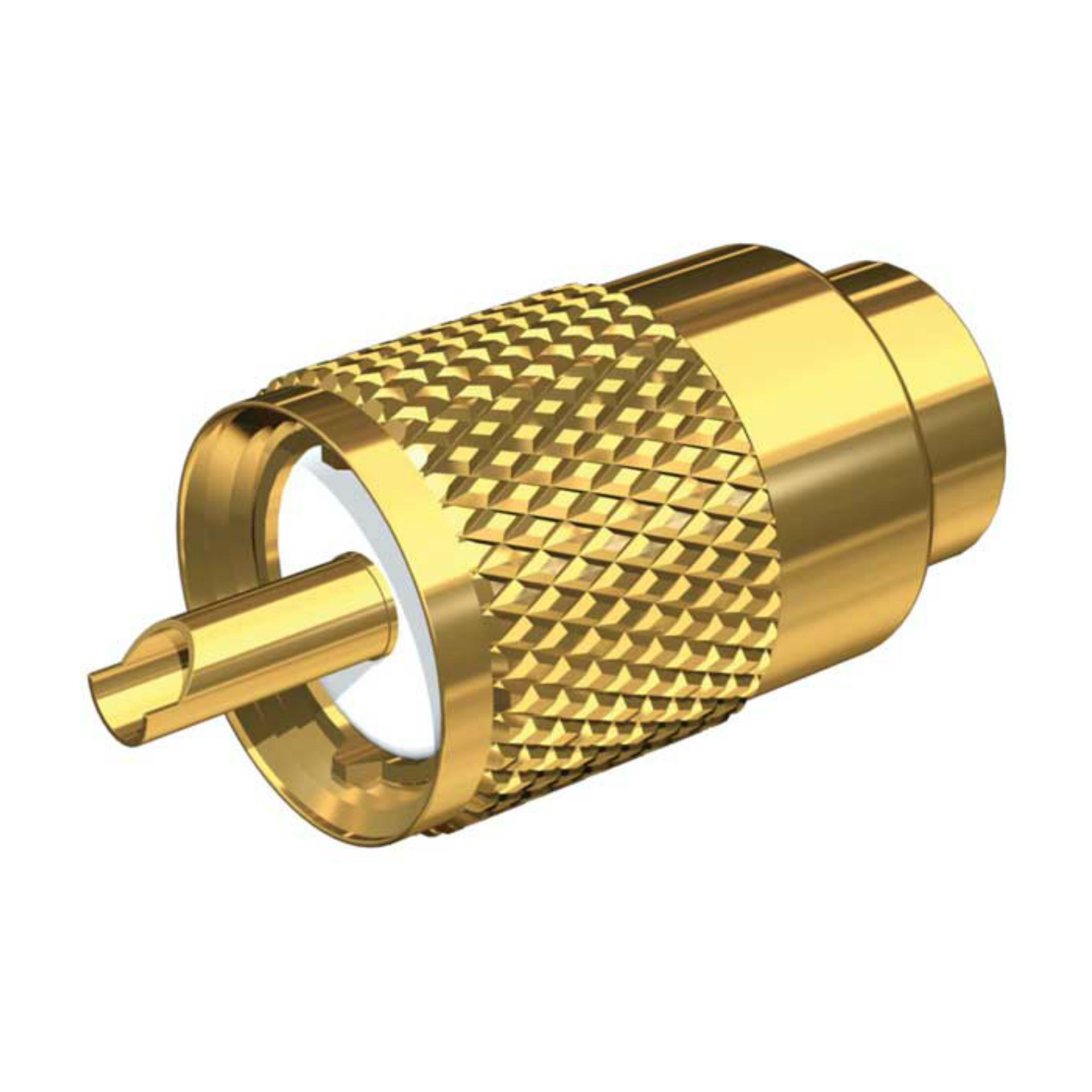 Shakespeare PL-259-8X-G|Gold-Plated Brass Connector|RG58 Cable|For Antenna
