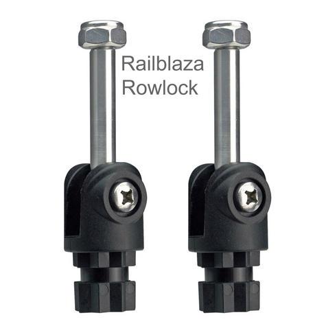 Railblaza Rowlock Pair|Removeble|Fits Aluminium Oars|For Boats-Black Thumbnail 1