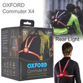 Oxford Commuter X4 Fibre Optic Rear Wearable Cycling/ Bike Light | 70 lm | IP65 | LD72