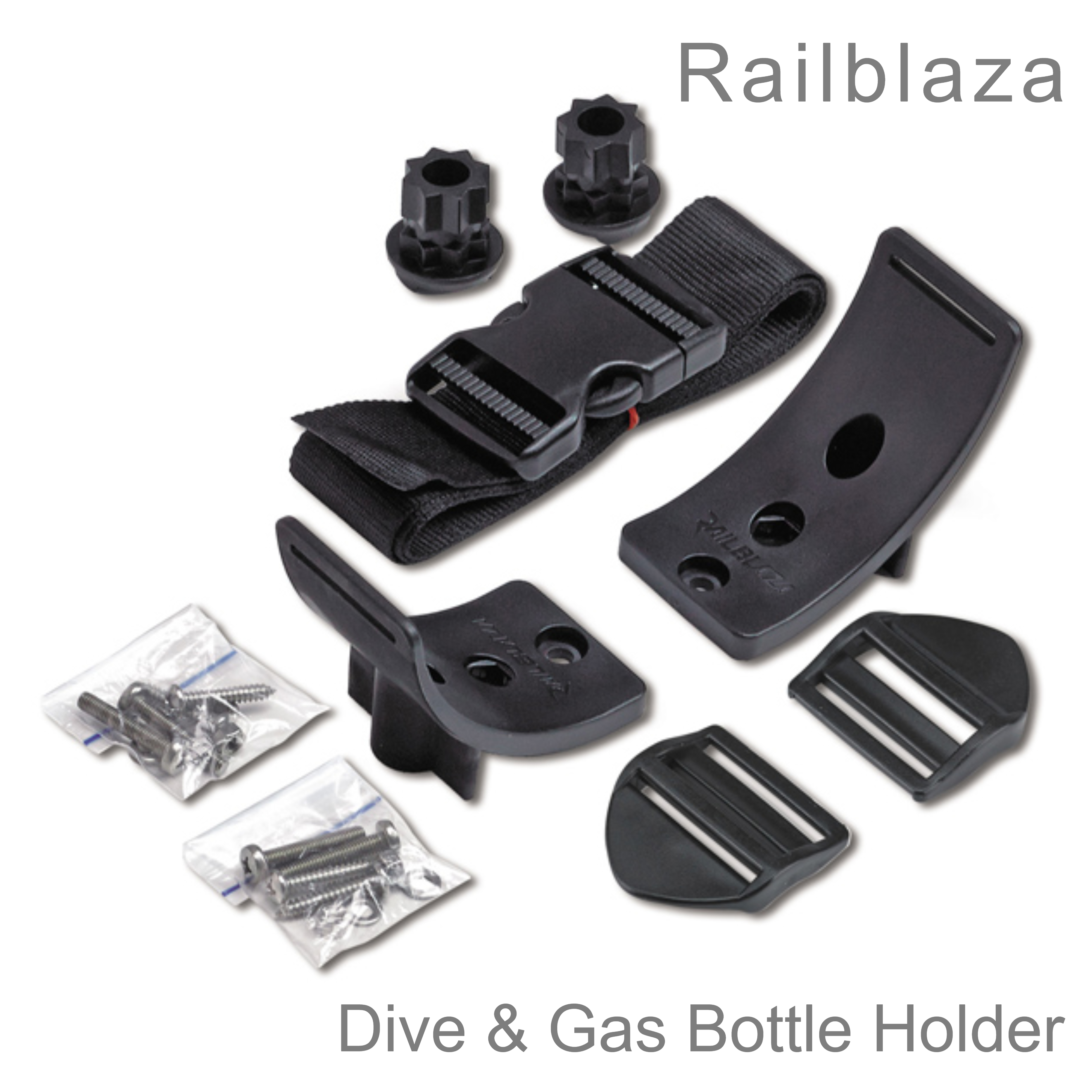 Railblaza Dive & Gas Bottle Holder   Strong/ Safe/ Versatile   02-4056-11   For Boats