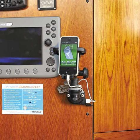 Railblaza E USB StarPort & Spacer|12 VDC Charger|2.1 Amps|For Marine - Black Thumbnail 3