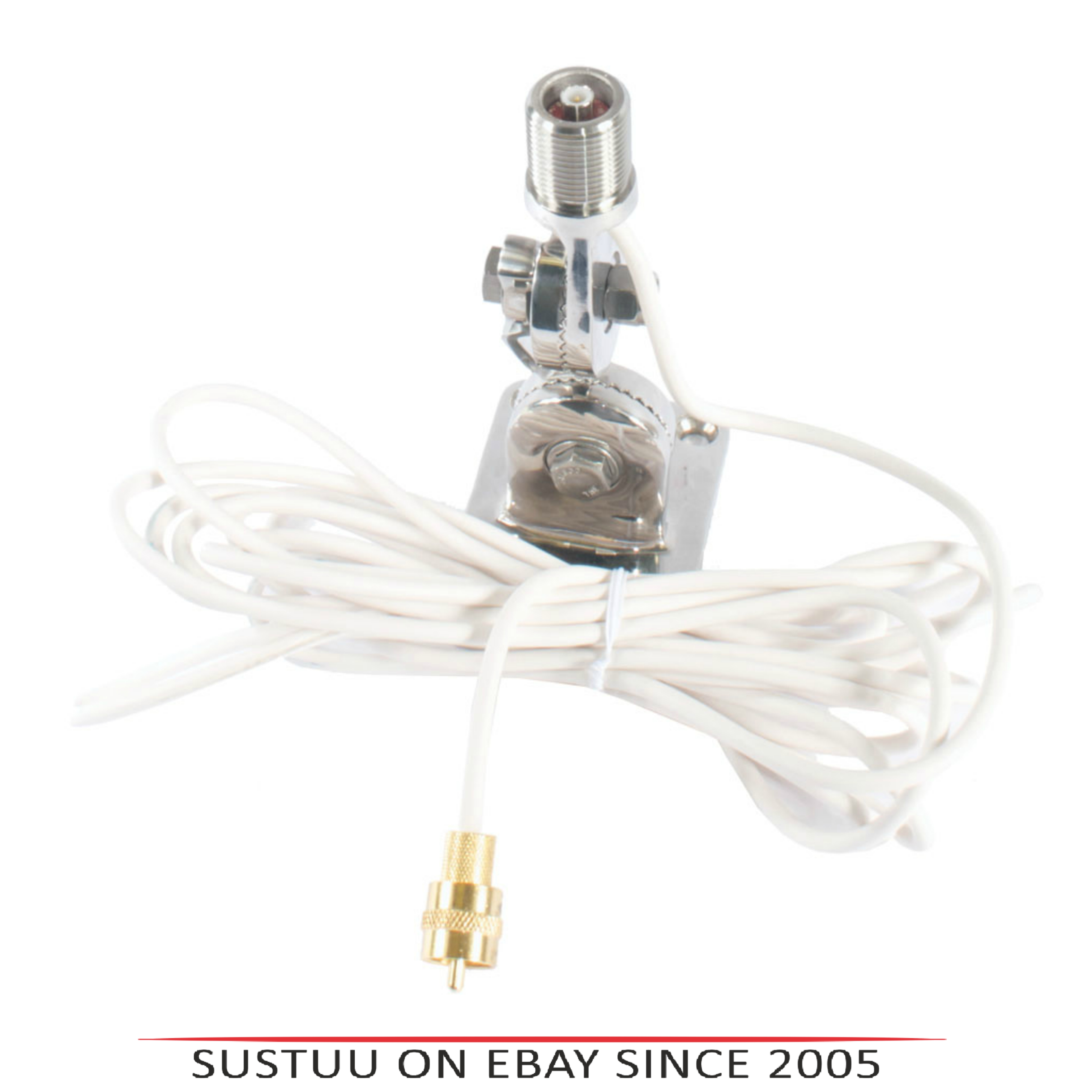 Shakespeare-818-QCM-S|QuickConnect SS Ratchet Mount With Cable|Use For QC Antenna