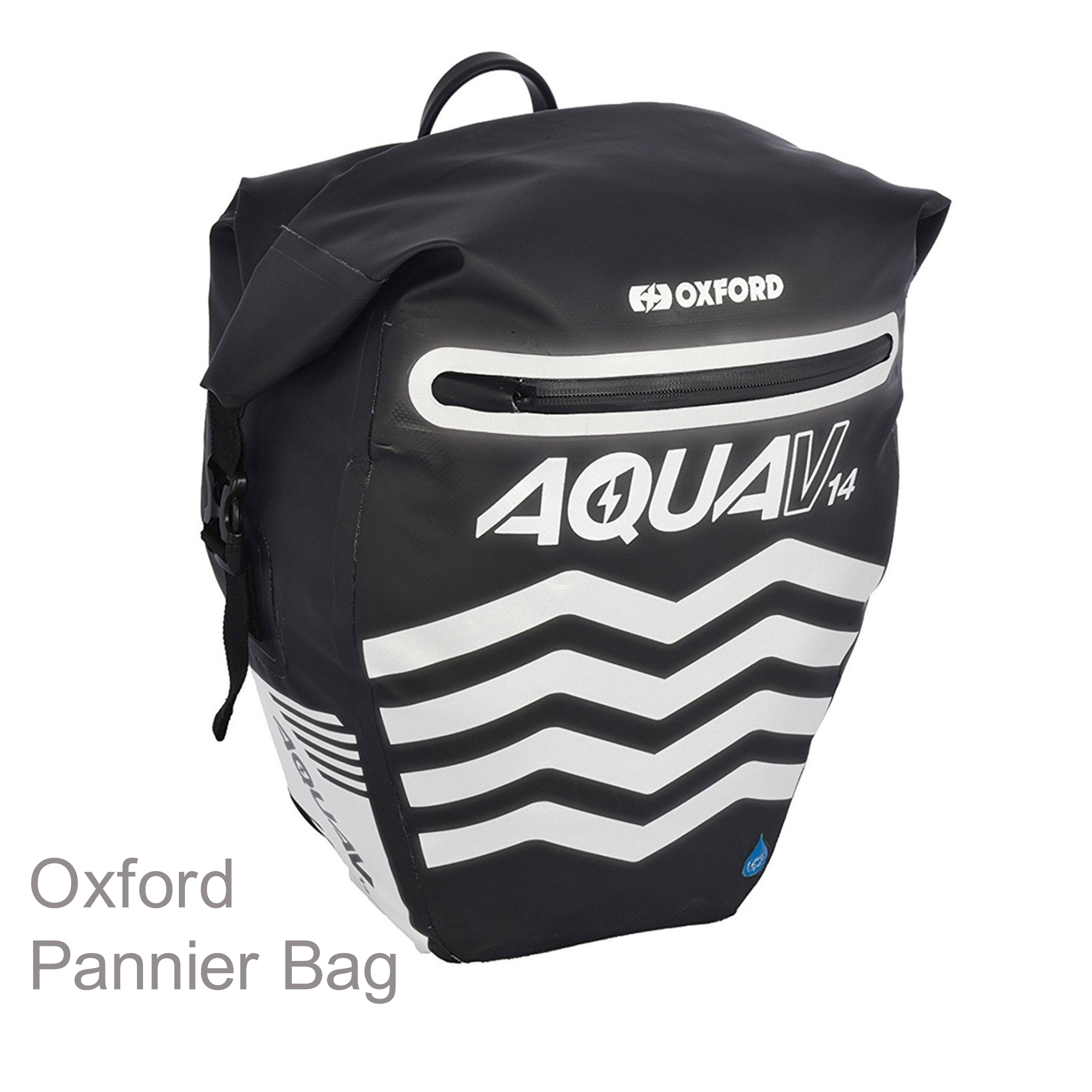 Oxford Aqua V14 Pannier Waterproof Reflective Cycling Bag 14L Black