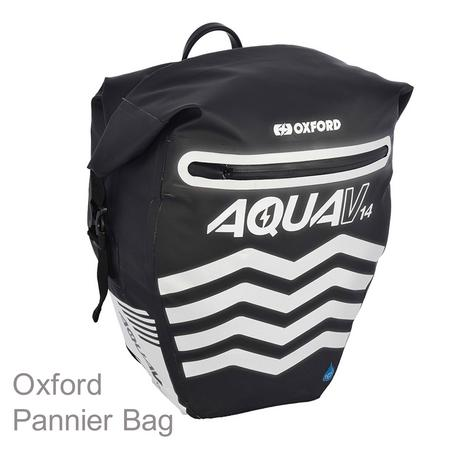 Oxford Aqua V14 Pannier Waterproof Reflective Cycling Bag 14L Black Thumbnail 1
