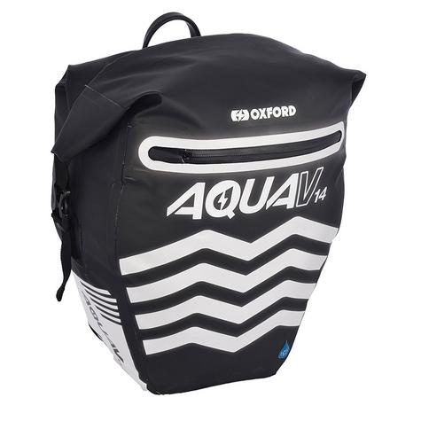 Oxford Aqua V14 Pannier Waterproof Reflective Cycling Bag 14L Black Thumbnail 2
